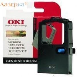 01108002 / 09002303 Ribbon Black (картридж OKI) матричный картридж - 3 млн знаков, черный