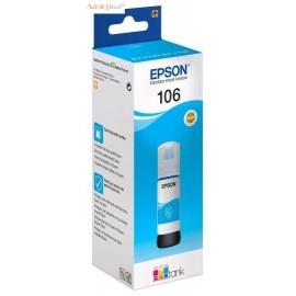 Epson 106 Ink Tank Cyan | C13T00R240 оригинальные ink tankкартриджи 70 мл, голубой