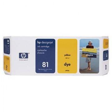 HP 81 Yellow | C4933A оригинальный струйный картридж - желтый, 680 мл