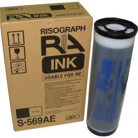 RA / RC ink Black | S-569E / AH / AE (RISO) чернила для дупликатора, черный