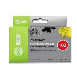 PFI-102Y | 0898B001 (Cactus) струйный картридж - 130 мл, желтый