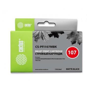 Cactus CS-PFI107MBK аналог PFI-107MBk | 6704B001, струйный картридж - 130 мл, черный-матовый