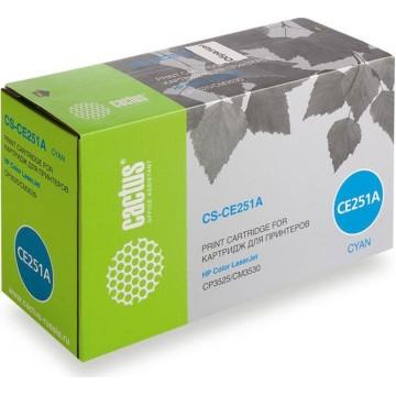 Cactus CS-CE251AV совместимый лазерный картридж 504A Cyan | CE251A - голубой, 7000 стр