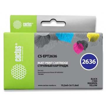 PREMIUM CS-EPT2636 совместимый струйный картридж 26XL Multipack | C13T26364010 - набор цветной + черный, 700 стр