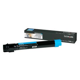 X950X2CG Cyan лазерный картридж Lexmark, 22 000 стр., голубой