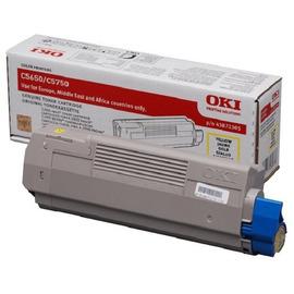 Oki 43872321 оригинальный лазерный картридж ресурс печати - 2 000 страниц, желтый