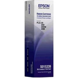 PLQ-20 Black Ribbon | C13S015339BA матричный картридж Epson, 3 * 5М знаков, черный