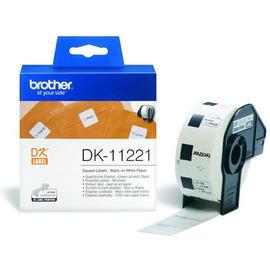 DK-11221 Label Roll лента для наклеек Brother, 1000 шт., черный на белом