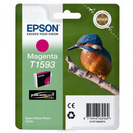 T1593 Magenta | C13T15934010 (Epson) струйный картридж - 850 стр, пурпурный