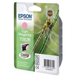 Уценка! T0826 Light Magenta | C13T11264A10 (Epson) струйный картридж - 300 стр, светло-пурпурный