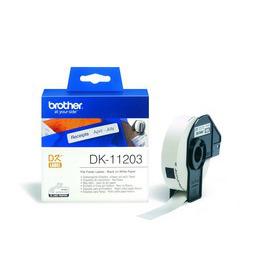 DK-11203 Label Roll лента для наклеек Brother, 300 шт., черный на белом