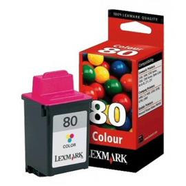 Lexmark 80 12A1980E оригинальный струйный картридж ресурс печати - 275 страниц, цветной