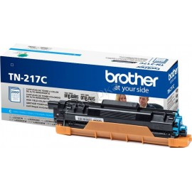 TN-217C (Brother) тонер картридж - 2300 стр, голубой