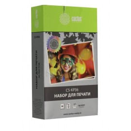 Premium CS-KP36 сублимационный Cactus KP-36IP Ink/Paper Set | 7737A001, 36 фото, цветной набор + фотобумага