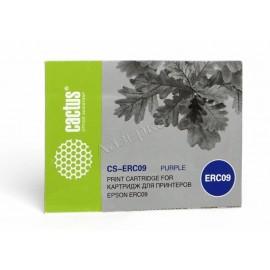CS-ERC09 матричный картридж Cactus ERC-09P Purple Ribbon | C43S015355, 3,5М знаков, пурпурный