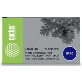 CS-IR40 матричный картридж Cactus IR-40 Ink Roll, черный + красный