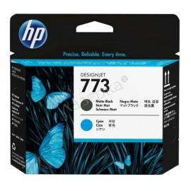771 MB + C Print Head | C1Q20A оригинальный печатающая головка HP, матовый-черный + голубой