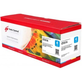 130A Cyan | CF351A (Static Control) лазерный картридж - 1000 стр, голубой