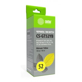 GT-52 Yellow | M0H56AE (Cactus) ink tankкартриджи - 100 мл, желтый