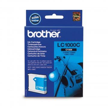 LC1000C оригинальный струйный картридж Brother голубой, ресурс печати - 500 страниц