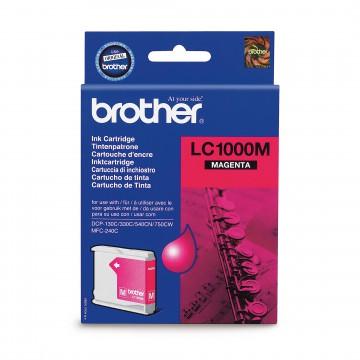 LC1000M оригинальный струйный картридж Brother пурпурный, ресурс печати - 500 страниц
