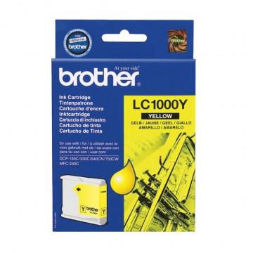 LC1000Y оригинальный струйный картридж Brother жёлтый, ресурс печати - 500 страниц