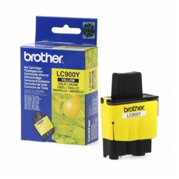 LC900Y оригинальный струйный картридж Brother жёлтый, ресурс печати - 500 страниц