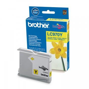 LC970Y оригинальный струйный картридж Brother жёлтый, ресурс печати - 300 страниц