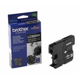 LC980B оригинальный струйный картридж Brother чёрный, ресурс печати - 350 страниц