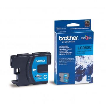 LC980C оригинальный струйный картридж Brother голубой, ресурс печати - 300 страниц