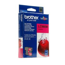 LC980M оригинальный струйный картридж Brother пурпурный, ресурс печати - 300 страниц