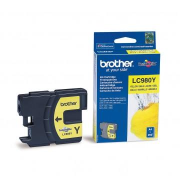 LC980Y оригинальный струйный картридж Brother жёлтый, ресурс печати - 300 страниц