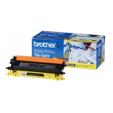 TN 130Y оригинальный тонер картридж Brother жёлтый, ресурс печати - 1500 страниц