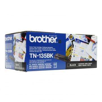 TN 135Bk оригинальный тонер картридж Brother чёрный, ресурс печати - 5000 страниц