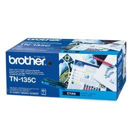 TN 135C оригинальный тонер картридж Brother голубой, ресурс печати - 4000 страниц
