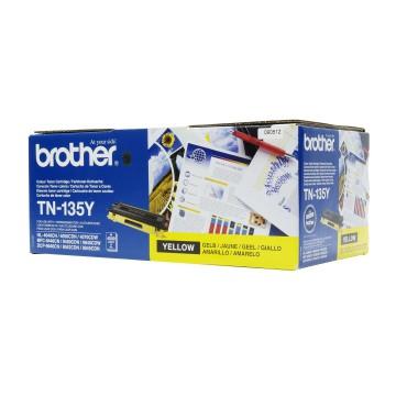 TN 135Y оригинальный тонер картридж Brother жёлтый, ресурс печати - 4000 страниц