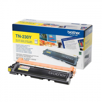 TN 230Y оригинальный тонер картридж Brother жёлтый, ресурс печати - 1400 страниц