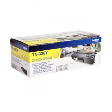 Brother TN-326Y оригинальный тонер картридж - желтый, 3500 стр