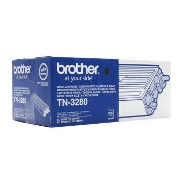 TN 3280 оригинальный тонер картридж Brother чёрный, ресурс печати - 8000 страниц