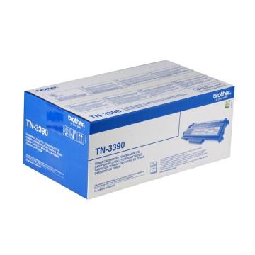 TN 3390 оригинальный тонер картридж Brother чёрный, ресурс печати - 12000 страниц