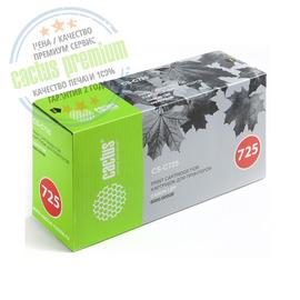 Cactus CS-C725 Premium совместимый картридж аналог Canon 725 чёрный, ресурс - 1600 страниц