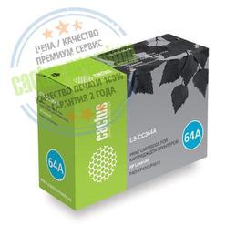 Premium CS-CC364A лазерный картридж Cactus 64A Black | CC364A, 10000 стр., черный