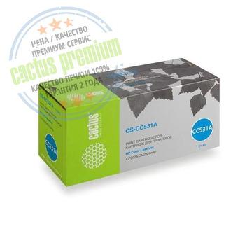 Premium CS-CC531A лазерный картридж Cactus 304A Cyan | CC531A, 2800 стр., голубой
