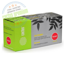 Cactus CS-TK590Y Premium совместимый картридж аналог Kyocera TK-590Y жёлтый, ресурс - 5000 страниц
