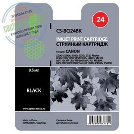 Premium CS-BCI24BK струйный картридж Cactus BCI-24BK | 6881A002, 9.2 мл, черный