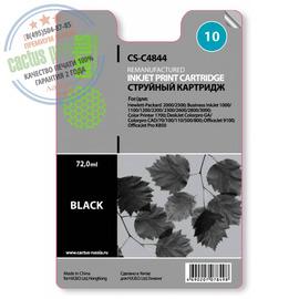 Cactus Premium CS-C4844 №10 совместимый струйный картридж аналог HP C4844AE черный ресурс 72 мл.