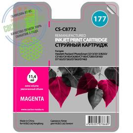 Cactus Premium CS-C8772 №177 совместимый струйный картридж аналог HP C8772HE пурпурный ресурс 11.4 мл.
