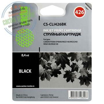 Premium CS-CLI426BK струйный картридж Cactus CLI-426Bk   4556B001, 8.2 мл, черный