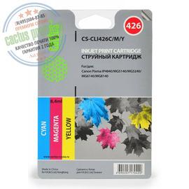 Premium CS-CLI426C/M/Y струйный картридж Cactus CLI-426 Multipack | 4557B006, 8.2 мл, набор цветной