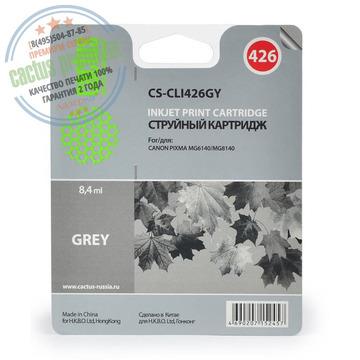Premium CS-CLI426GY струйный картридж Cactus CLI-426GY | 4560B001, 8.2 мл, серый
